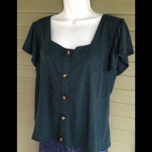 Maurice's Size XL Green Button Detail NWT